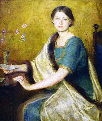 Trim (sewing) - Image: Mary Brewster Hazelton, The Letter, by 1916 when she won the Newport Art prize