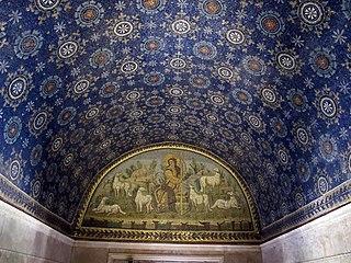Mausoleo di galla placidia, int., buon pastore 01
