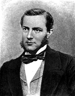 "Max Muller is regarded as one of the founders of comparative mythology. In his Comparative Mythology (1867) Muller analysed the ""disturbing"" similarity between the mythologies of ""savage races"" with those of the early Europeans. Max Muller.jpg"