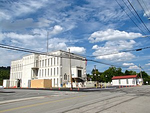 Maynardville, Tennessee - Union County Courthouse and old Maynardville State Bank