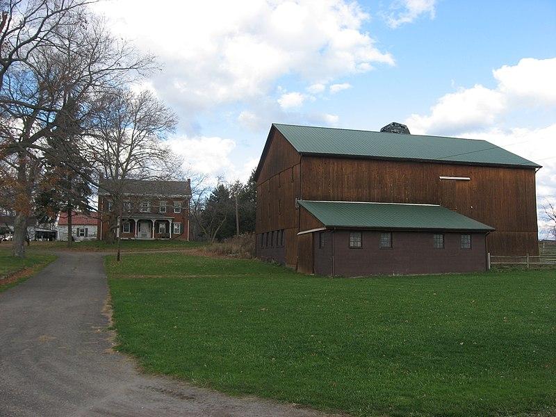 File:McClelland Homestead house and barn.jpg