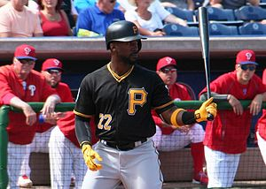 Andrew McCutchen - McCutchen at bat during spring training 2016