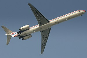 McDonnell Douglas MD-90 - China Eastern MD-90-30 showing a planform view