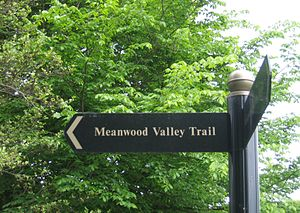 Meanwood Valley Trail - Signpost on the Meanwood Valley Trail (Section 3)