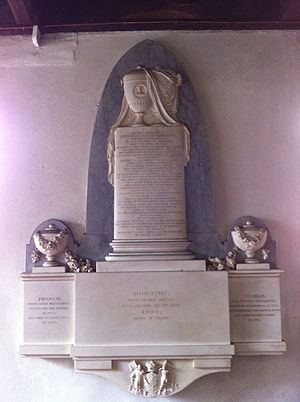 Henry Willoughby, 5th Baron Middleton - Memorial in St. Leonard's Church, Wollaton to Henry, 5th Baron Middleton