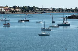Mersey River (Tasmania) - The Estuary of the Mersey River at Devonport.