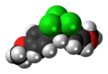 Methoxychlor molecule spacefill.png
