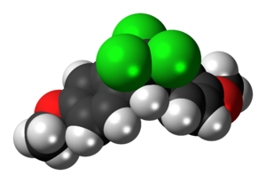 Methoxychlor - Image: Methoxychlor molecule spacefill