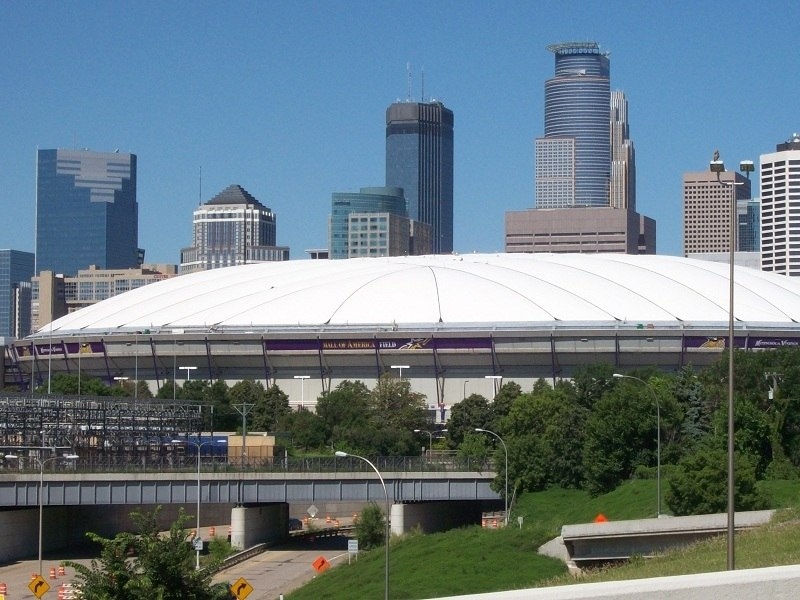 Metrodome with new roof