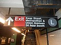 Metropolitan Avenue IND Crosstown; Exit to Keap Street and L Train.jpg