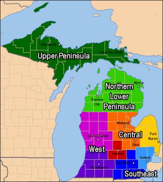 West Michigan - A broad definition of West Michigan.