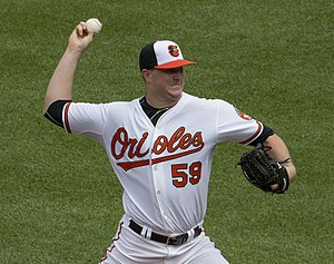 Mike Wright (baseball) - Wright with the Baltimore Orioles