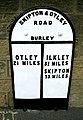 Milestone - Main Street, Burley in Wharfedale - geograph.org.uk - 924387.jpg