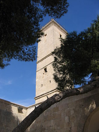 Ayyubid dynasty - Minaret of the Great Mosque of the Aleppo Citadel, built by az-Zahir Ghazi in 1214