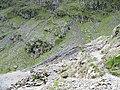 Mine tailings adjoining a scrambling pitch on the Pyg Track - geograph.org.uk - 452014.jpg