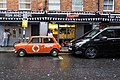 Mini outside Poppies Fish & Chip Shop, London (33344534291).jpg