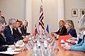 Ministru prezidents V.Dombrovskis tiekas ar Eiropas Parlamenta Rūpniecības, pētniecības un enerģētikas komitejas deputātiem un Eiropas Elektronisko sakaru regulatoru iestādes (BEREC) vadību (7886167668).jpg