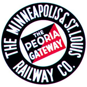 Minneapolis and St. Louis Railway - Image: Minneapolis & St. Louis Peoria Gateway logo