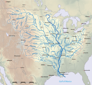 List Of Longest Rivers Of The United States By Main Stem Wikipedia - Map-of-us-states-and-rivers