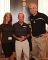 Mitch Daniels with Angela Buchman and Kevin Gregory.jpg