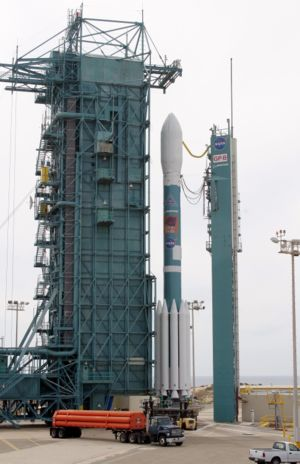 Vandenberg AFB Space Launch Complex 2 - Delta II at SLC-2W, with Gravity Probe B