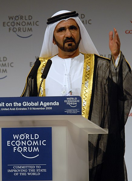 Mohammed bin Rashid Al Maktoum, Prime Minister and Vice President of the United Arab Emirates, at the World Economic Forum Summit on the Global Agenda 2008 in Dubai, United Arab Emirates.