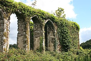 Molana Abbey - Pointed Windows on the north side of the choir, constructed in the 13th century English style