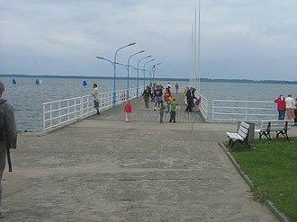 Kamieński Lagoon - Image: Molo Kamień Pomorski