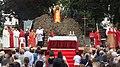 Momento della storica messa in onore di San Giovanni Battista durante la sua ricorrenza, nella villa comunale di Angri (Sa).jpg