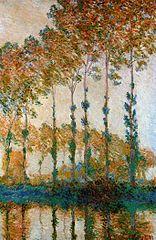 Peupliers au bord de l'Epte, automne
