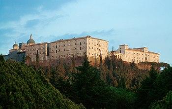 Abbey of Monte Cassino, originally built by Sa...