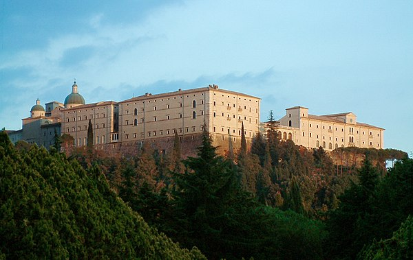 The rebuilt Abbey of Monte Cassino Monte Cassino Opactwo 1.JPG
