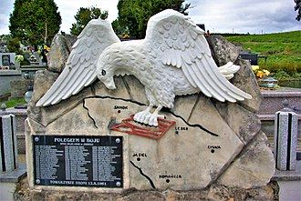 Operation Vistula - Monument to Polish soldiers killed by UPA in Jasiel, south-eastern Poland, in 1946