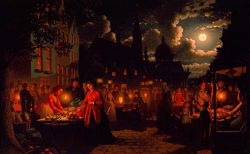 Moonlit Market by Johann Mengels Culverhouse, 1894, High Museum of Art