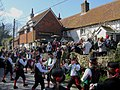 Morris Men at the Rose Cottage, Alciston, East Sussex - geograph.org.uk - 732870.jpg