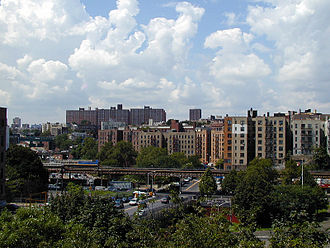 Morris Heights, Bronx - Featherbed Lane, seen from Grand Concourse