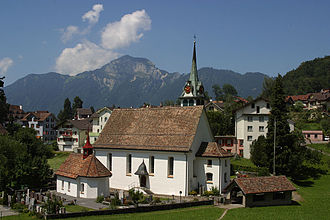 Morschach - Village church in Morschach