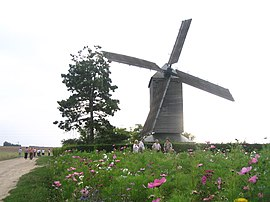 """Moulin de la Garenne"" post mill in Ymonville"