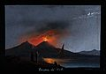 Mount Vesuvius in eruption at night, showing the Bay of Napl Wellcome V0025246.jpg
