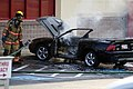 Mustang car fire at CVS on Key West Highway in North Potomac MD July 12 2012 (7575621368).jpg
