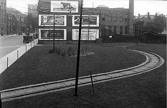 Toronto streetcar system loops - Mutual Loop in 1929