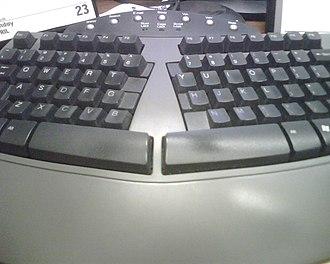 Ergonomic keyboard - An ergonomic keyboard.