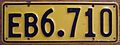 NEW ZEALAND 1961-66 -EXEMPT VEHICLE LICENSE PLATE HIGH NUMBERED DOUBLE PREFIX LETTER - Flickr - woody1778a.jpg