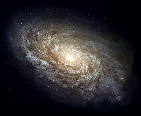 NGC 4414, a typical spiral galaxy in the constellation Coma Berenices, is about 17,000 parsecs in diameter and approximately 20 million parsecs distant. Credit:Hubble Space TelescopeNASA/ESA.