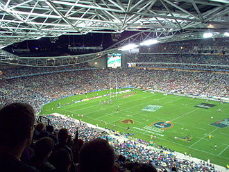 2006 NRL Grand Final - View of the 2006 grand final from the stands of Stadium Australia.