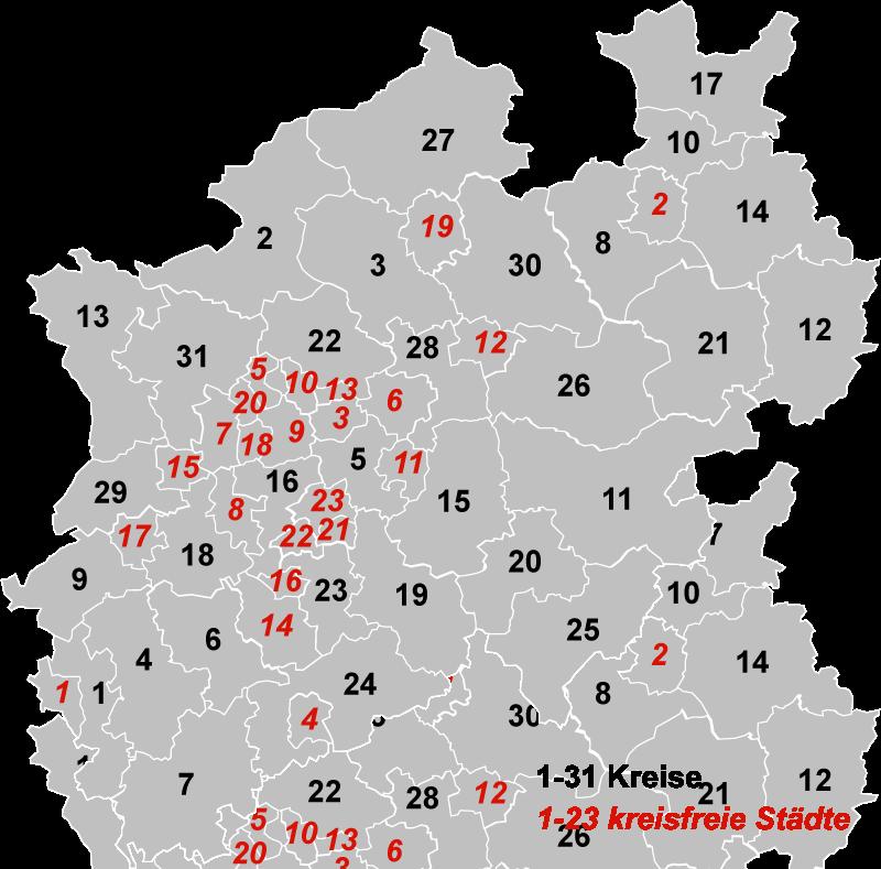 NRW districts