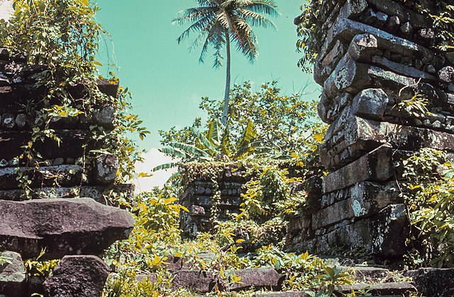 Ruins of Nan Madol on the Pohnpei island