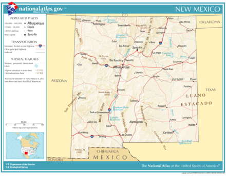Map of New Mexico highways National-atlas-new-mexico.png