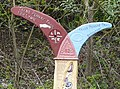 National Cycle Route Milepost detail - geograph.org.uk - 1271812.jpg
