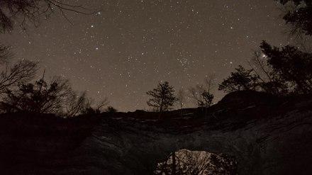 File:Natural Bridge time lapse - stars 1-19-2012 VP8.webm